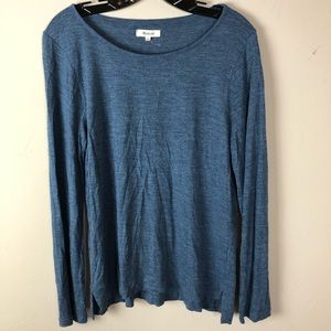 Madewell women's top sz large long sleeve viscose